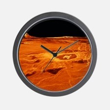 False-col. 3D view of Cunitz Crater and Wall Clock