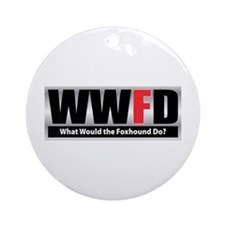 WW the Foxhound D Ornament (Round)