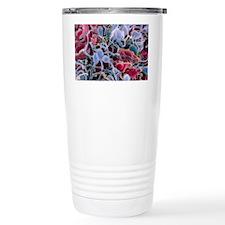 False-colour SEM of sperm on a  Travel Mug