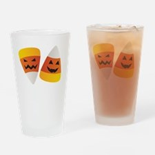 Trick or Treat Halloween Candy Corn Drinking Glass