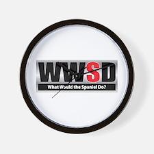 WW the Spaniel D Wall Clock