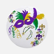 Mardi Gras mask Round Ornament