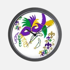 Mardi Gras mask Wall Clock