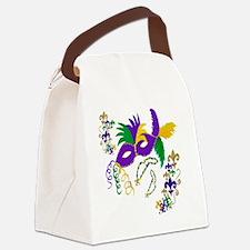 Mardi Gras mask Canvas Lunch Bag