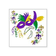 """Mardi Gras mask Square Sticker 3"""" x 3"""""""
