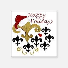 """Santa Fleur de lis party Square Sticker 3"""" x 3"""""""