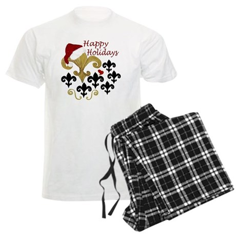 Santa Fleur de lis party Men's Light Pajamas