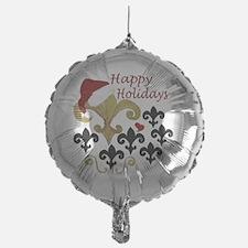 Santa Fleur de lis party Balloon
