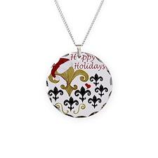 Santa Fleur de lis party Necklace