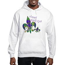 Happy Mardi Gras fleur de lis Hoodie