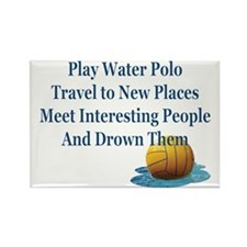 Play Water Polo Drown Em Blue Bal Rectangle Magnet