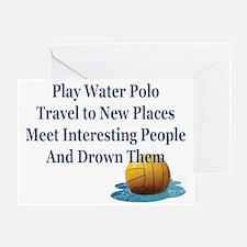 Play Water Polo Drown Em Blue Ball P Greeting Card