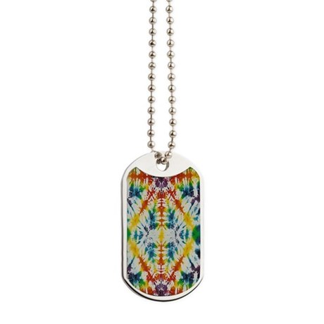 Tie Dye Psychedelic Mix Dog Tags