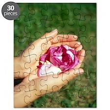 Flower held in hands Puzzle