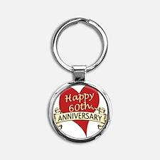60th. anniversary Round Keychain