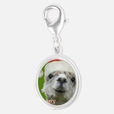 Cuddle Me Christmas Silver Oval Charm