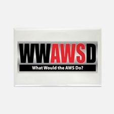 WW the AWS D Rectangle Magnet (100 pack)