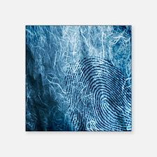 "Fingerprinting Square Sticker 3"" x 3"""