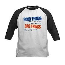 Wrestling Bad Things Baseball Jersey