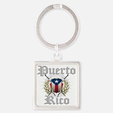 puerto rico a Square Keychain