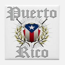 puerto rico a Tile Coaster