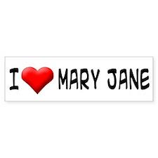 I Love MJ Bumper Bumper Sticker