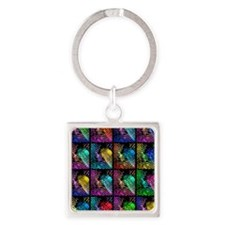 Fingerprints Square Keychain