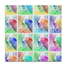 Fingerprints Tile Coaster