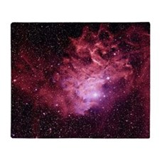 Flaming Star Nebula Throw Blanket