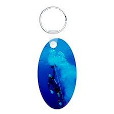 Freediver ascending Keychains
