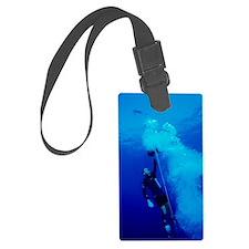Freediver ascending Luggage Tag