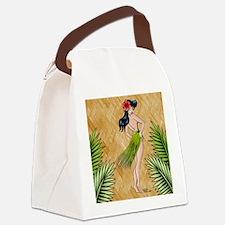 Island girl in a grass skirt Canvas Lunch Bag