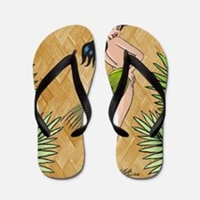 Island girl in a grass skirt Flip Flops