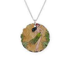 Island girl in a grass skirt Necklace