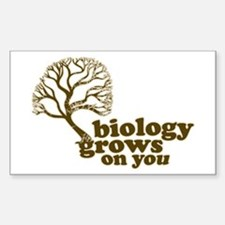 biology grows on you Rectangle Decal