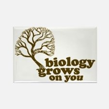 biology grows on you Rectangle Magnet