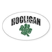 Hooligan Distressed Oval Decal