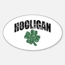 Hooligan Distressed Oval Decal