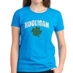 Hooligan Distressed Women's Dark T-Shirt