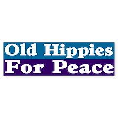 Old Hippies for Peace Bumper Bumper Sticker