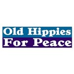 Old Hippies for Peace Bumper Sticker