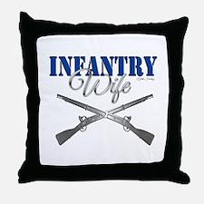 Infantry Wife Symbol Throw Pillow