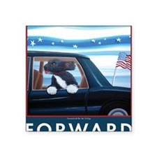 "Forward with Bo, the 1st Do Square Sticker 3"" x 3"""