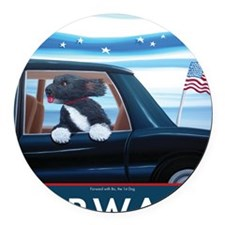 Forward with Bo, the 1st Dog Round Car Magnet