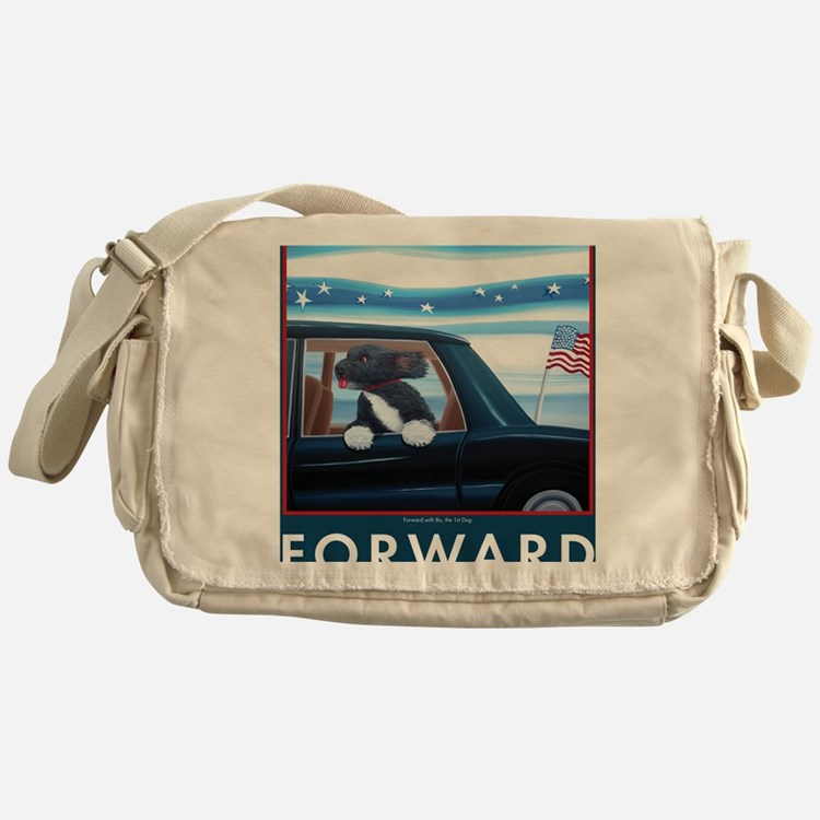 Forward with Bo, the 1st Dog Messenger Bag