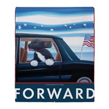 Forward with Bo, the 1st Dog Throw Blanket