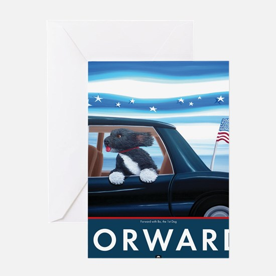 Forward with Bo, the 1st Dog Greeting Card
