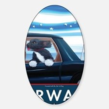 Forward with Bo, the 1st Dog Sticker (Oval)