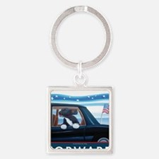 Forward with Bo, the 1st Dog Square Keychain