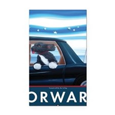 Forward with Bo, the 1st Dog Rectangle Car Magnet